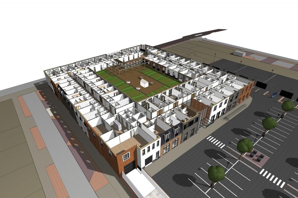 JYB architecten supermarkt hotel kaatsheuvel BIM2