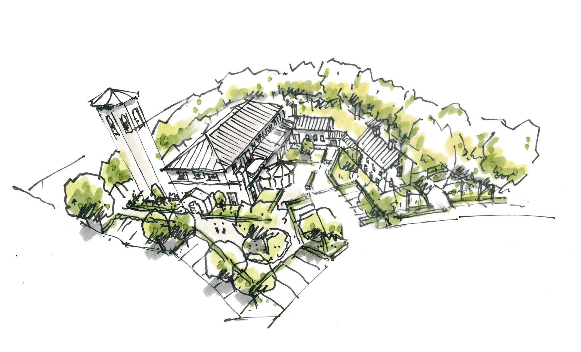 JYB architecten Kerk Heusden-schets-02
